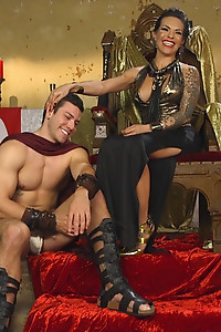 Goddess TS Foxxy uses her delicious hard dick to tease and torment a new servant!